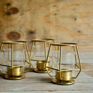 Waxinelichthouders – goud
